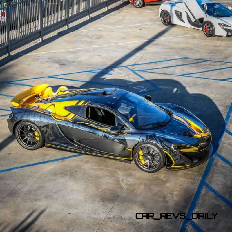 StickerCity 2015 McLaren P1 Black Chrome Art Car 8