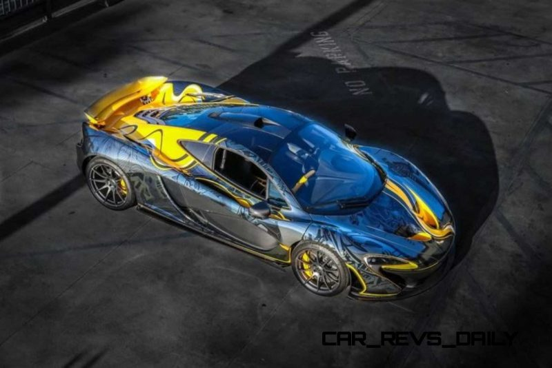 StickerCity 2015 McLaren P1 Black Chrome Art Car 9