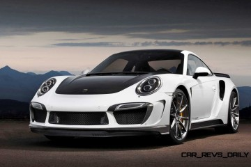TopCar Stinger GTR for Porsche 991 Turbo Delivers All-New CF Widebody + Whale Tail!