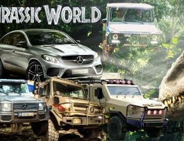 Mercedes-Benz GLE Coupe, G63 6×6 and Unimog U5023 Star in Jurassic World
