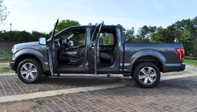 2015 Ford F-150 Platinum 4x4 Supercrew Review 102
