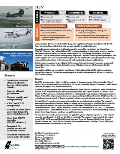 2015 Lockheed Martin JLTV 6