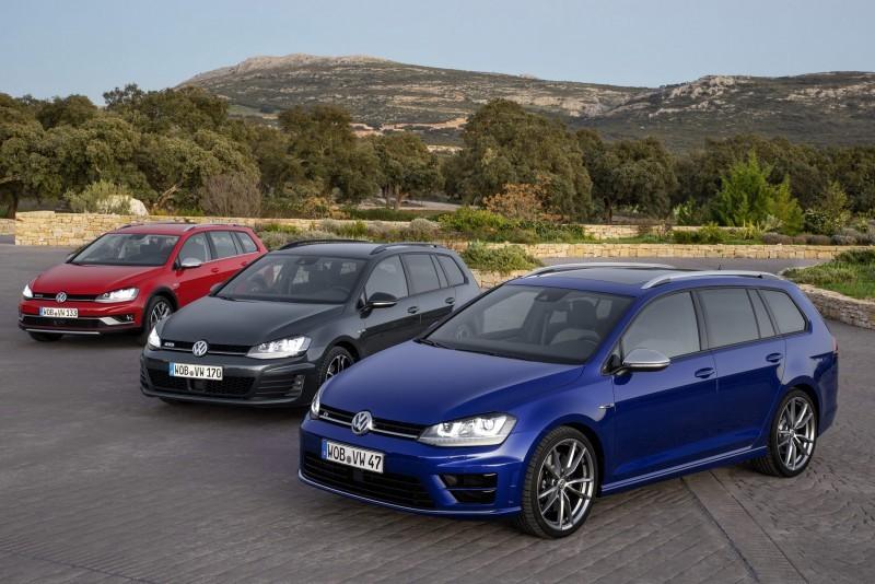 Volkswagen Golf Alltrack Golf GTD Variant und Golf R Variant