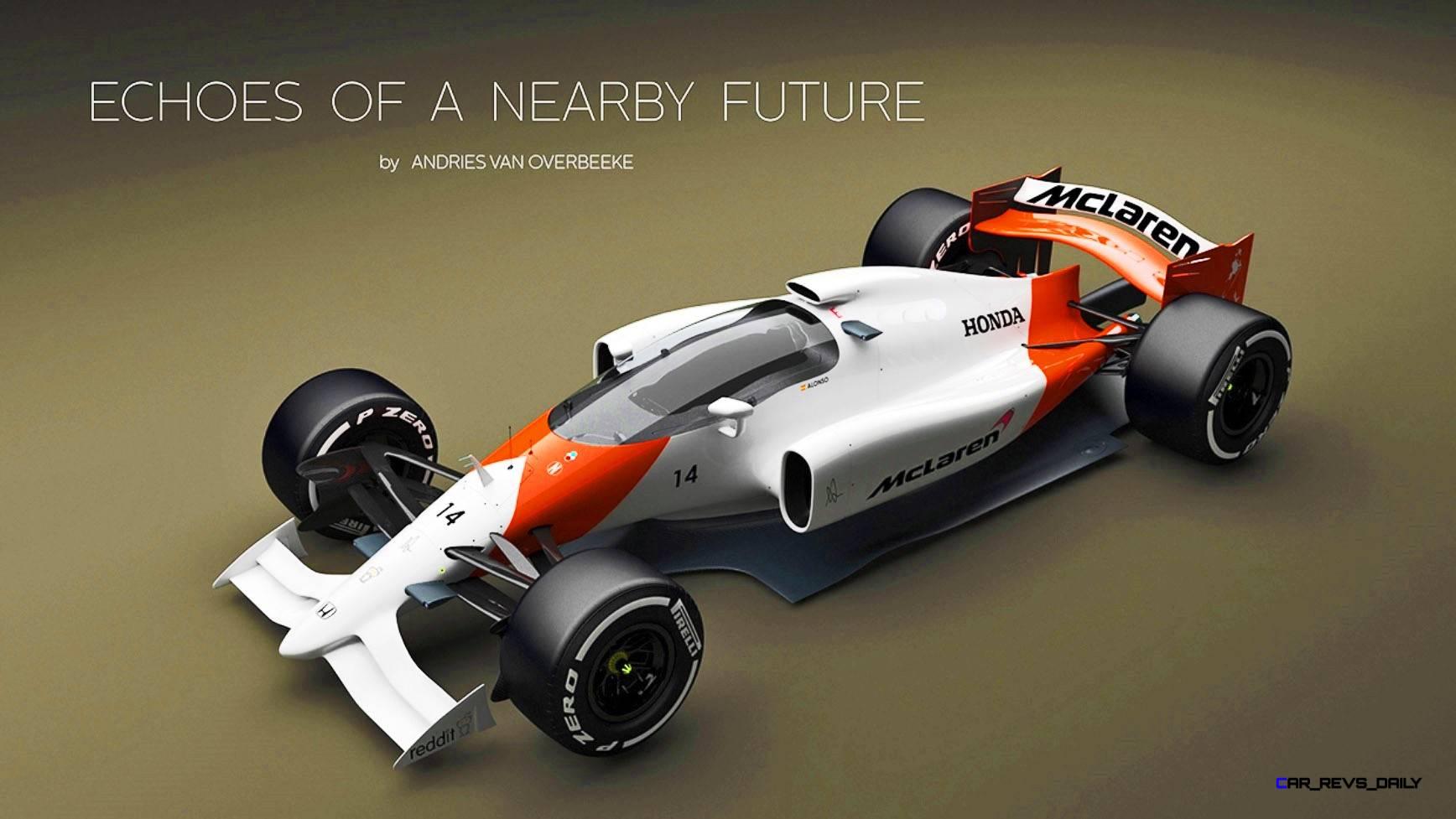 2019 Mclaren Honda F1 Car Renderings