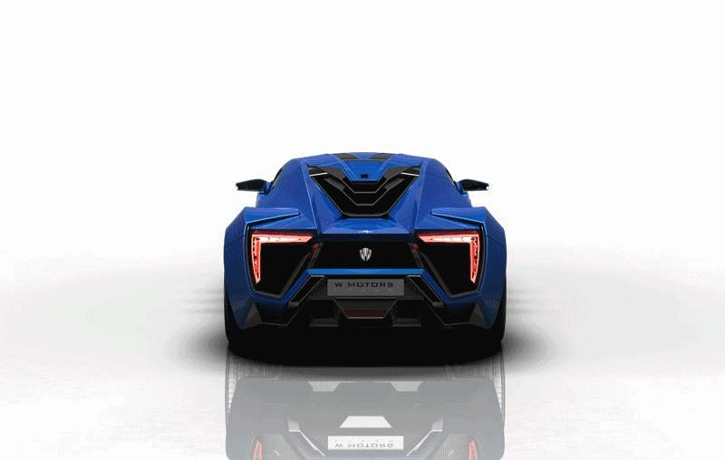 BLUE Lykan Hypersport Turntable Animated GIF