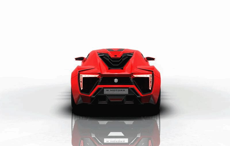 RED Lykan Hypersport Turntable Animated GIF
