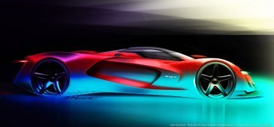 SRT Tomahawk Vision Gran Turismo Concept Side View Sketch