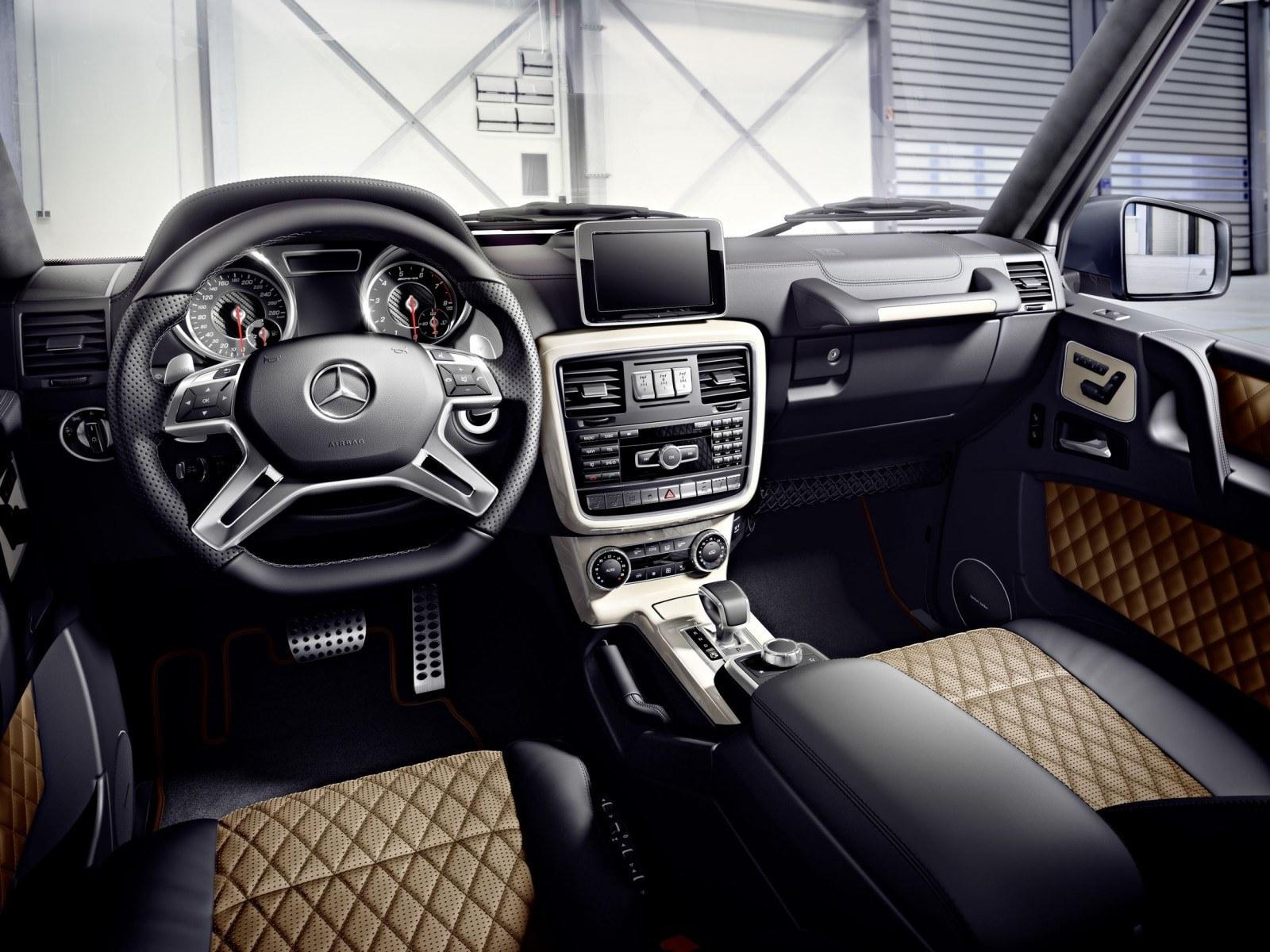 2016 mercedes benz g500 4x4 squared for Leder auto interieur