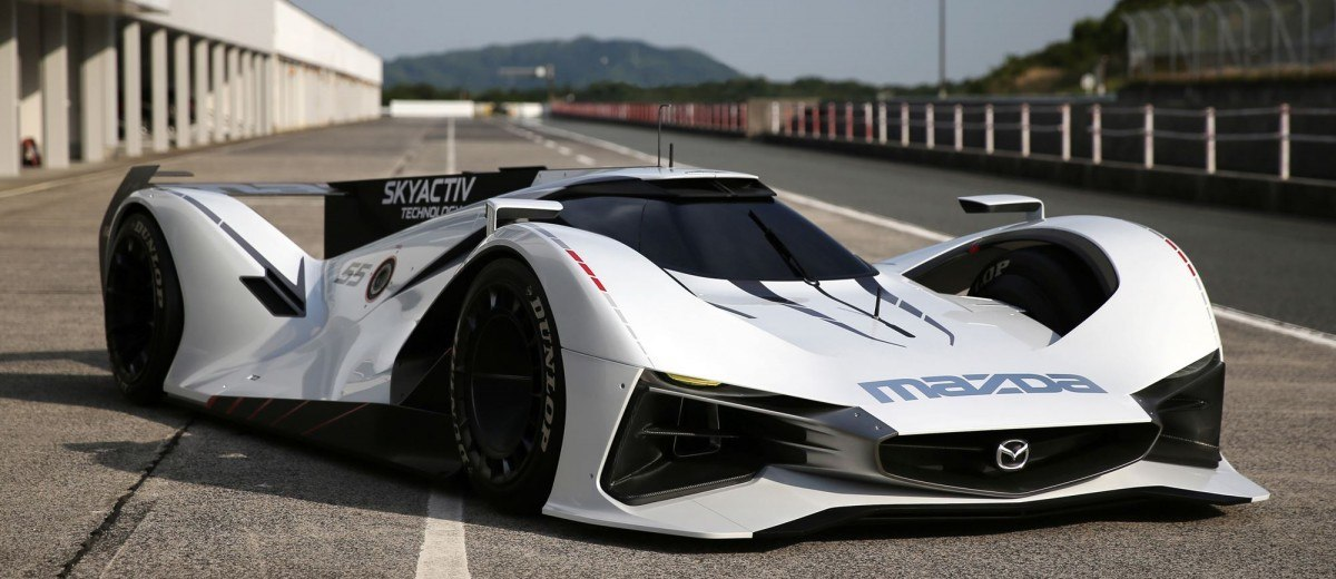 2015 Mazda LM55 Vision GT Tops Goodwood With 787B LeMans Legend 2
