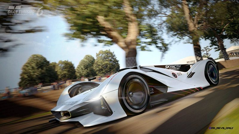 2015 Mazda LM55 Vision GT Tops Goodwood With 787B LeMans Legend 68