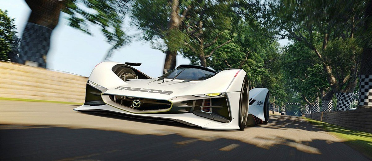 2015 Mazda LM55 Vision GT Tops Goodwood With 787B LeMans Legend 71
