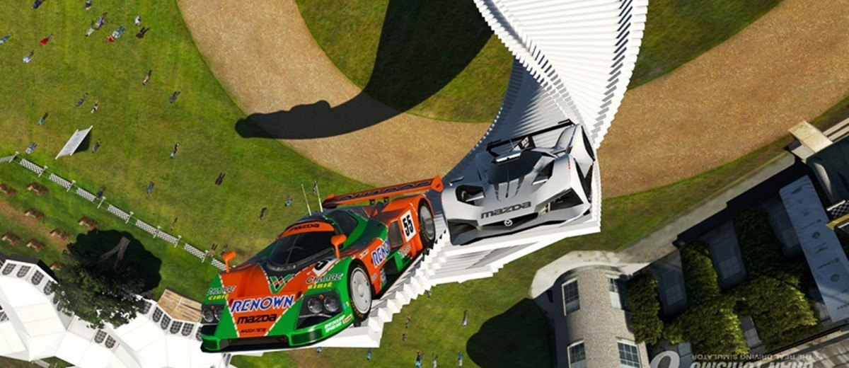 2015 Mazda LM55 Vision GT Tops Goodwood With 787B LeMans Legend 76