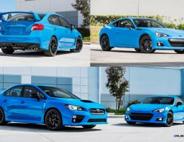 2016 Subaru Series.HyperBlue Editions Brighten Up WRX and BRZ With Sexy Details