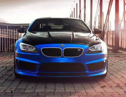 SuperTune! Blue Silk FOSTLA.DE Mirror Wrap for Hamann BMW M6 F13