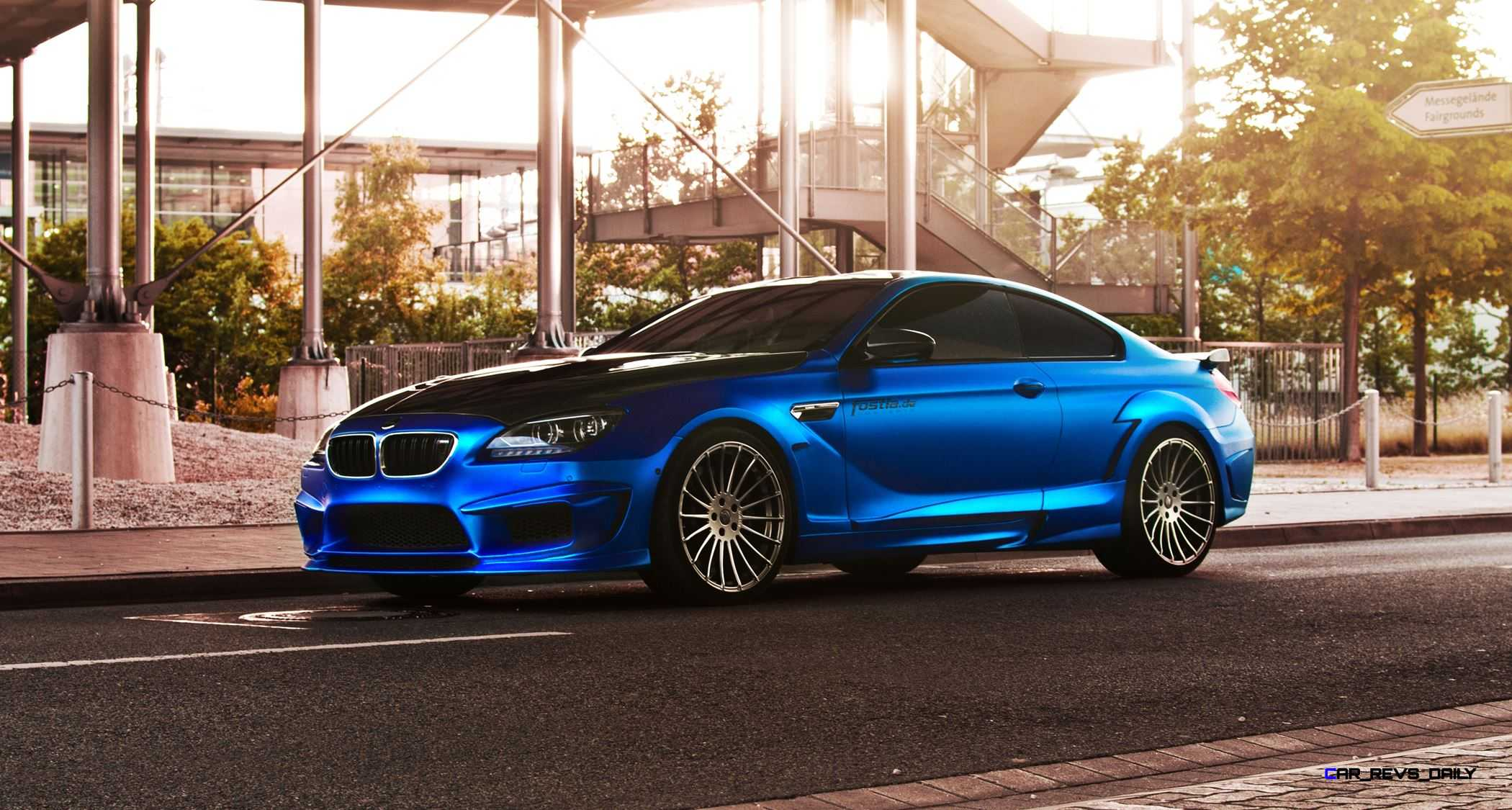 Blue Silk Fostla De Mirror Wrap For Hamann Bmw M F