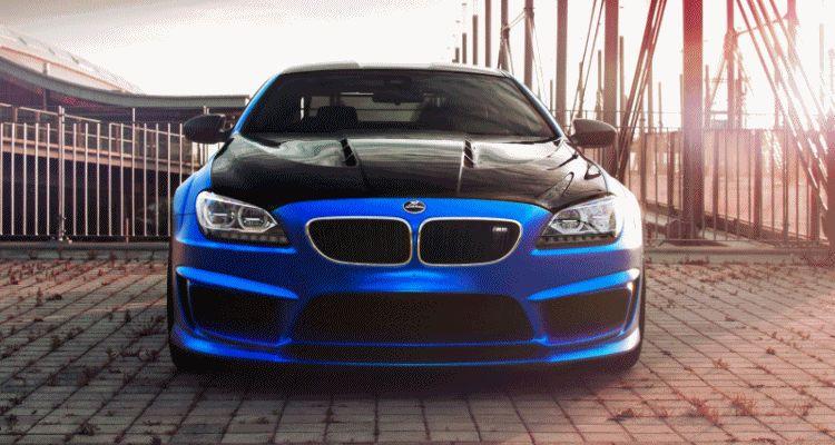 Blue Silk FOSTLA.DE Mirror Wrap for Hamann BMW M6 F13