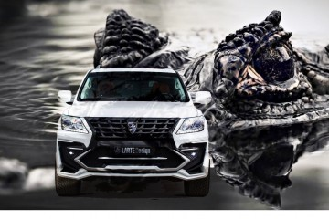 LARTE Design Lexus LX570 Alligator Bodykit Brings Exotic, Designer Feel to VIP Fave