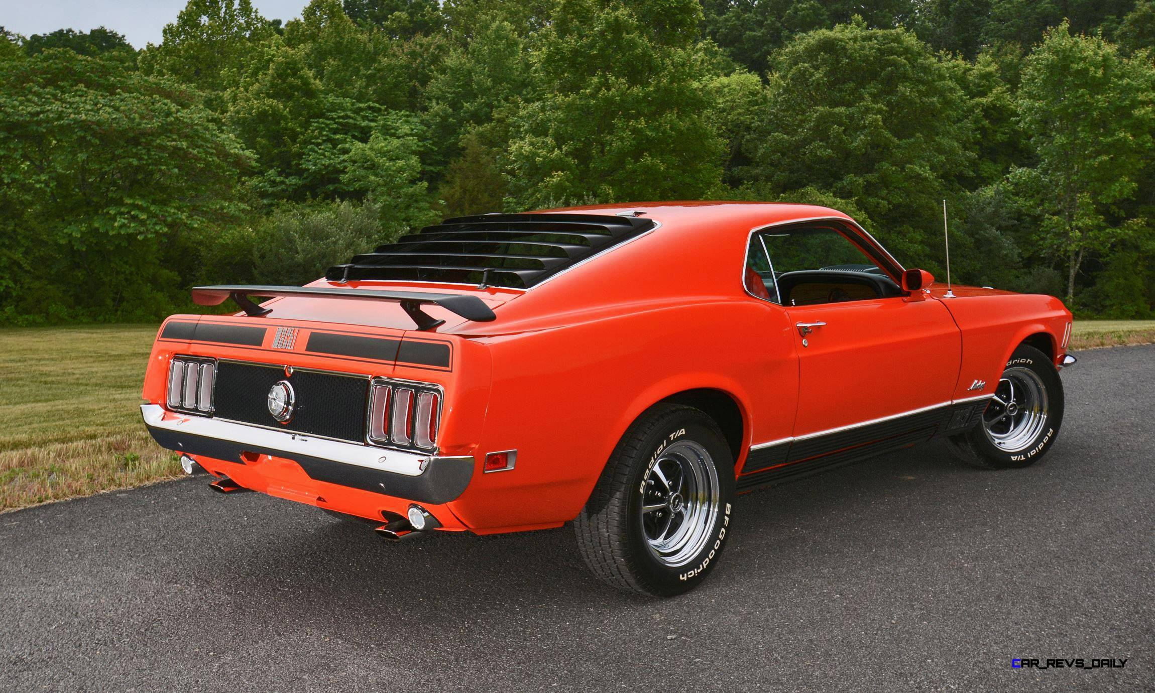 s114 1970 ford mustang mach 1 fastback calypso coral 18. Black Bedroom Furniture Sets. Home Design Ideas