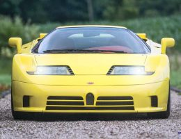 3.2s, 216MPH 1995 Bugatti EB110 SS in Famous Schumi Livery – RM London 2015 Preview