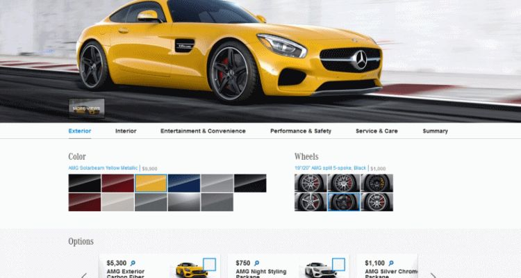 2015 Mercedes-AMG GT S - exterior stlying packs