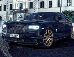 709HP 2015 SPOFEC Rolls-Royce Ghost II Is Blackedout Special on Gold 22s