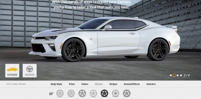2016 Camaro SS Wheel Options 1