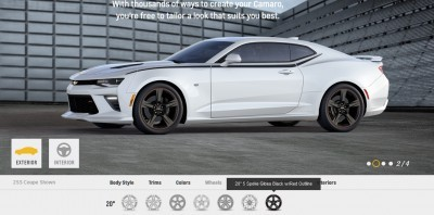 2016 Camaro SS Wheel Options 2