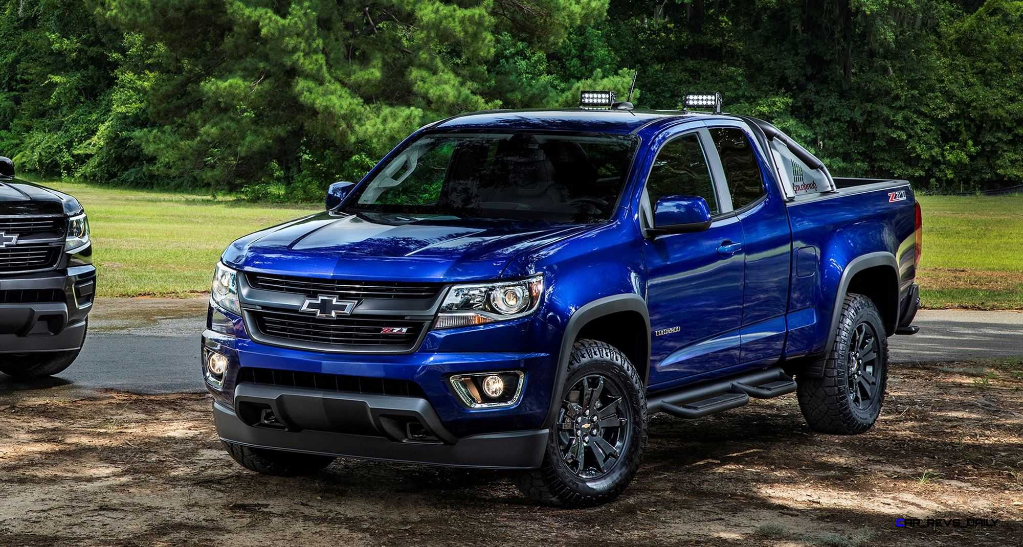 (L to R) 2016 Chevrolet Colorado Midnight Edition and ...