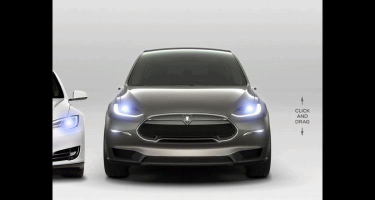 2016 TESLA Model X doors animation
