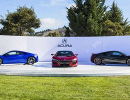 Update1 – 2016 Acura NSX Shows Carbon Options at The Quail!  But Production Delayed Until Springtime