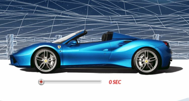488s roof animation