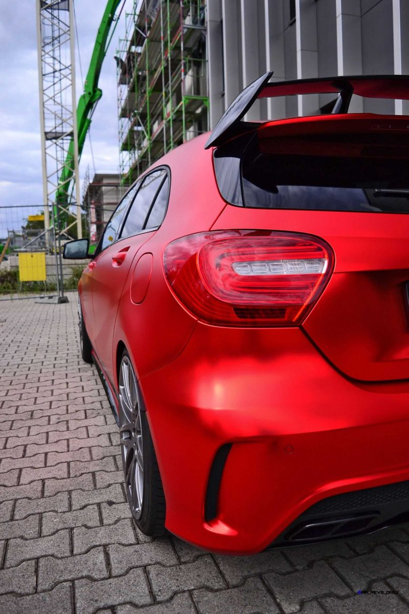 Mercedes-Benz A45 AMG in Satin Red Chrome Wrap by FOLIEN EXPERTE 10