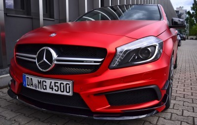 Mercedes-Benz A45 AMG in Satin Red Chrome Wrap by FOLIEN EXPERTE 11
