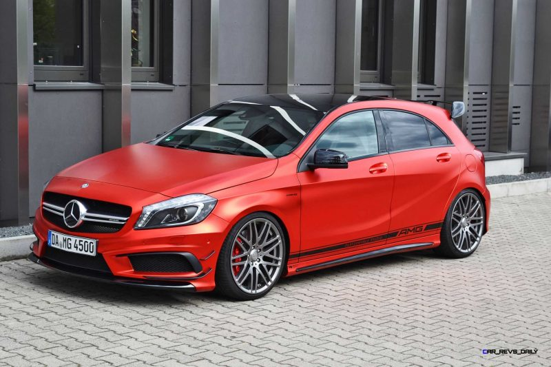 Mercedes-Benz A45 AMG in Satin Red Chrome Wrap by FOLIEN EXPERTE 5