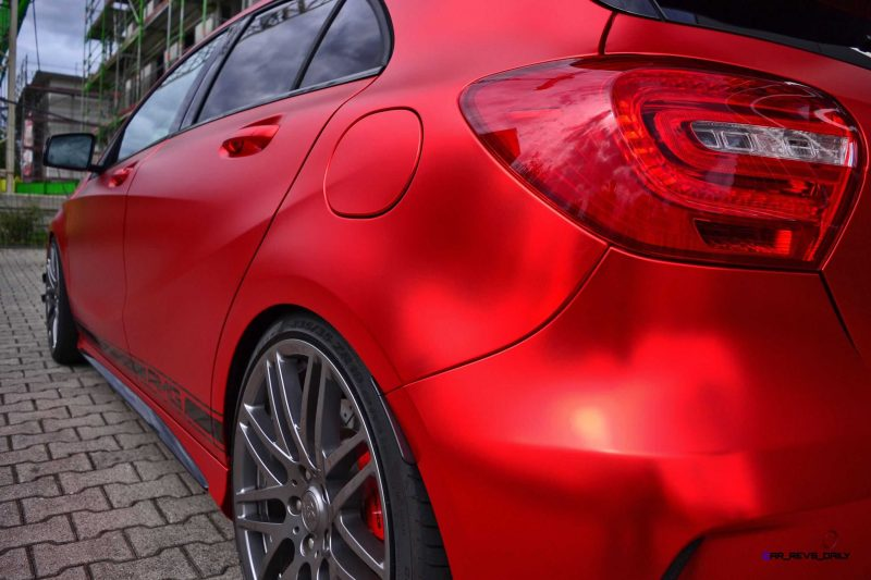 Mercedes-Benz A45 AMG in Satin Red Chrome Wrap by FOLIEN EXPERTE 9