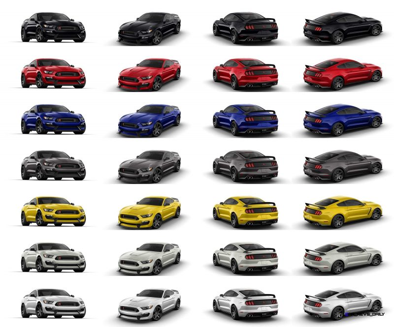 SHELBY GT350R Colors 40-tile