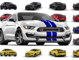 2016 SHELBY Ford Mustang GT350R – Colors and Racing Stripes Visualizer