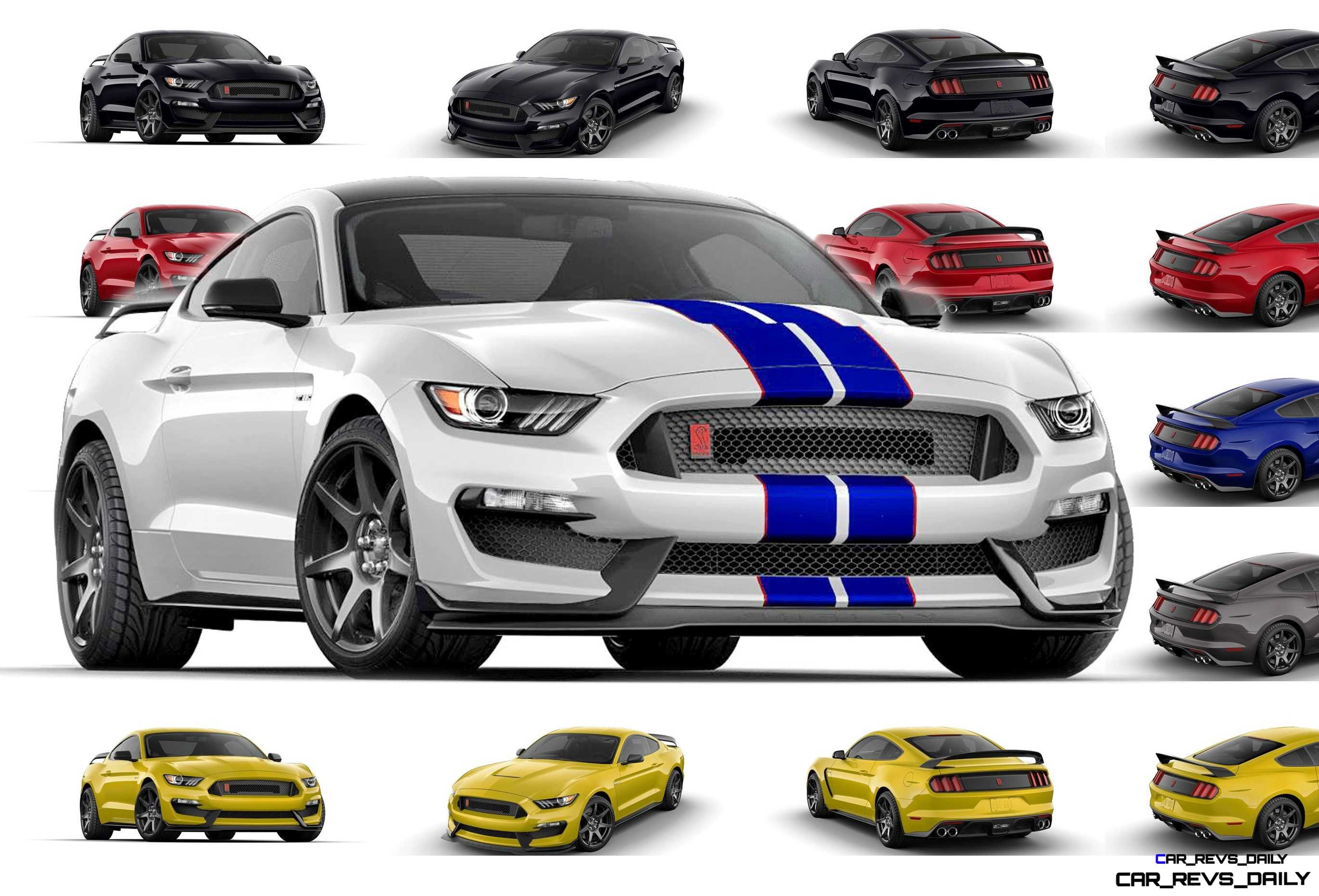 2016 Shelby Ford Mustang Gt350r Colors And Racing Stripes Visualizer