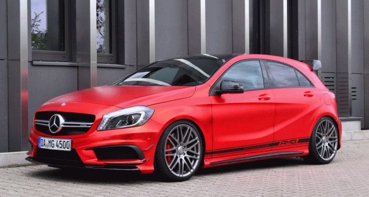 a45 amg red foil wrap