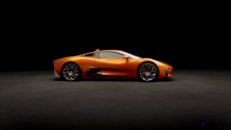 007 SPECTRE Bond Cars - JAGUAR CX-75 Orange 1