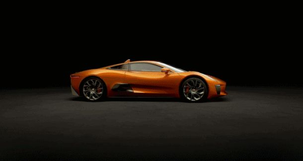007 SPECTRE Bond Cars - Jaguar CX-75 orange sinner