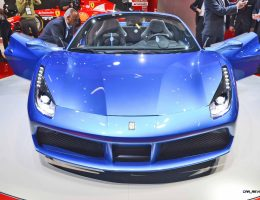 2.9s, 203MPH 2016 Ferrari 488 Spider – Frankfurt Gallery + Engine Audio MP3s