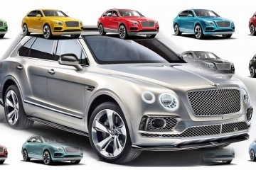 2017 Bentley BENTAYGA Colors and Options Configurator + Sexy Black Brightware Specification