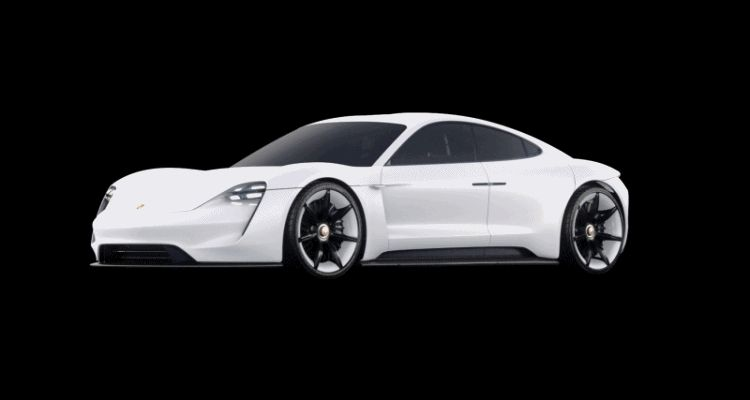 2015 Porsche Mission E animated charge port