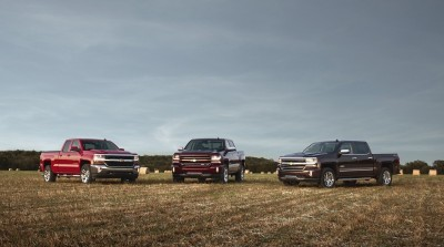2016 Chevrolet Silverado 1500 LT, LT Z71 and High Country