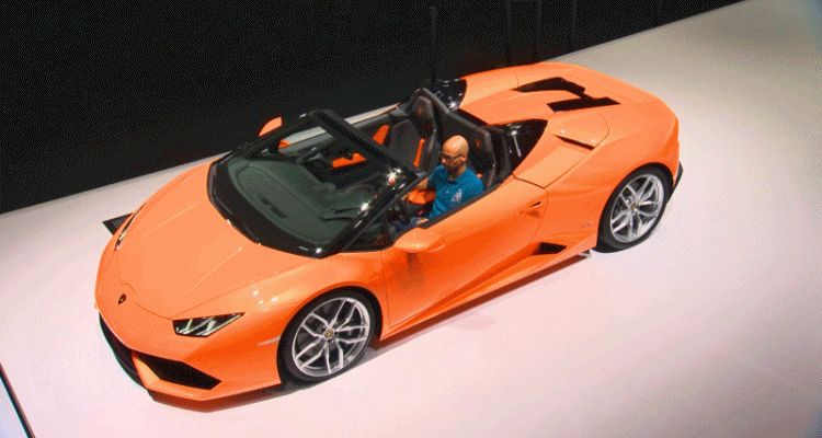 2016 Lamborghini Huracan SPYDER - Roof Sequence GIF1