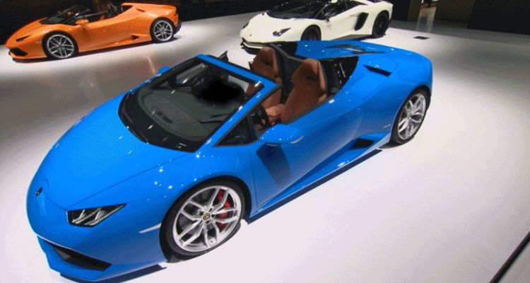 2016 Lamborghini Huracan SPYDER - Roof Sequence GIF3