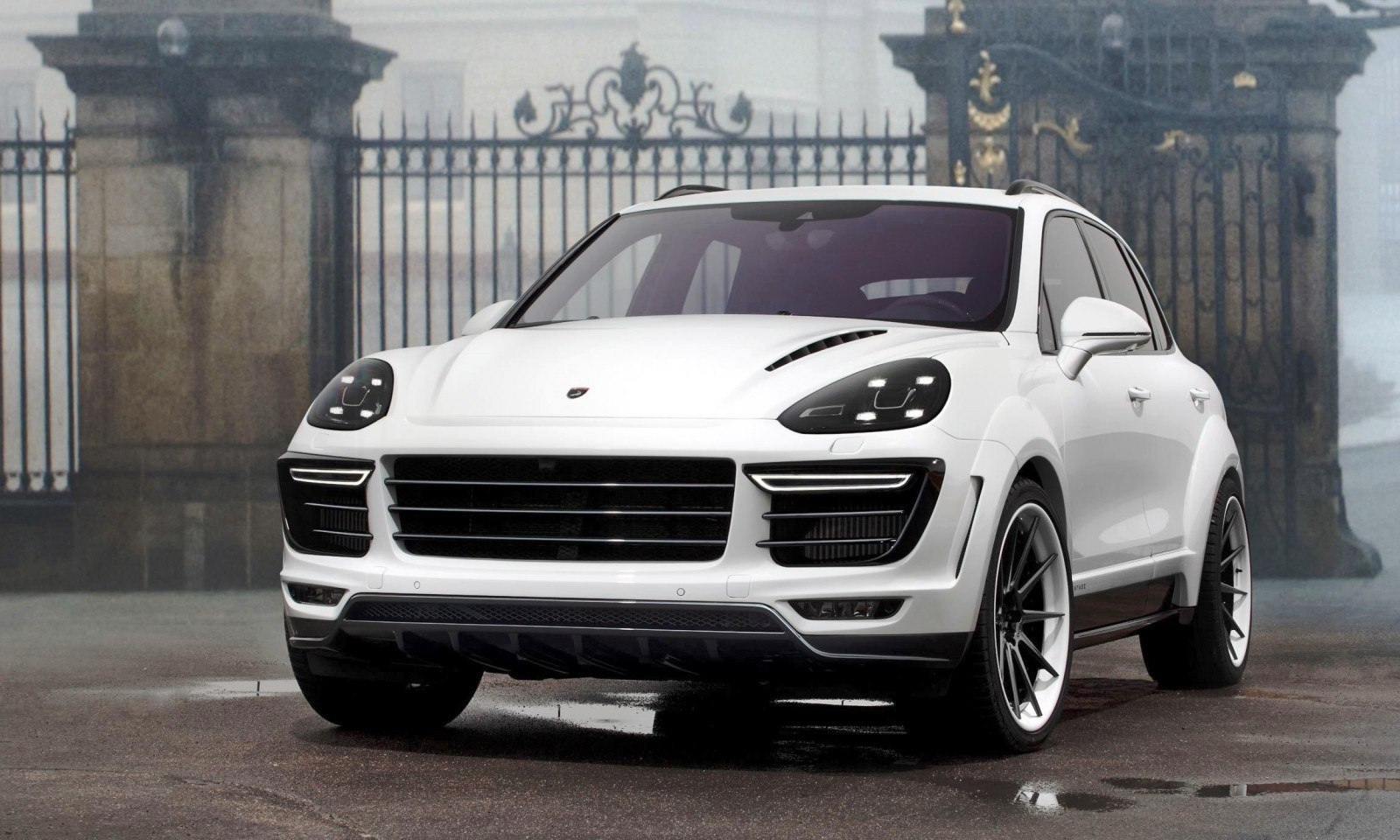 2016 porsche cayenne vantage white by topcar. Black Bedroom Furniture Sets. Home Design Ideas