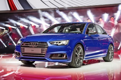 The Audi S4 at the International Auto Show 2015 in Frankfurt.