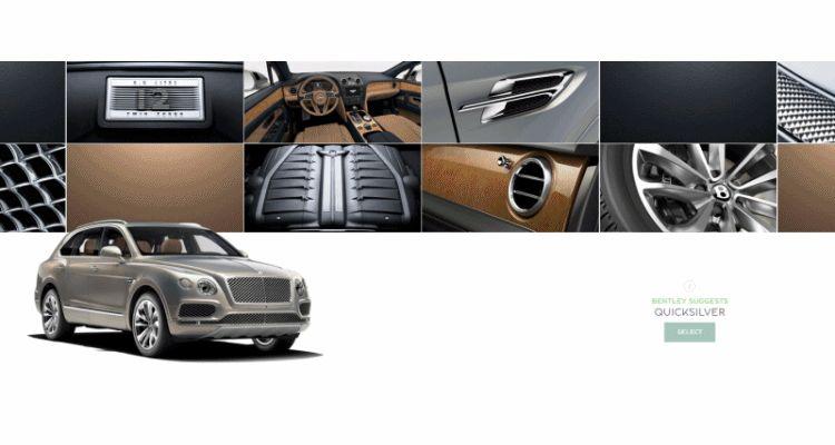 2017 Bentley Bentayga BENTLEY SUGGESTS COLORS 32132